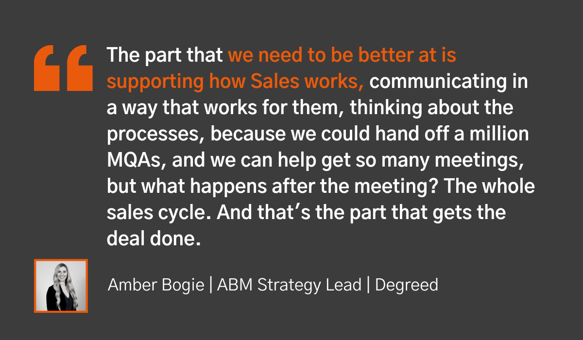 7 tips for implementing sales enablement - Degreed quote 2